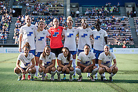Seattle, WA - Saturday, July 02, 2016: Boston Breakers starting IX prior to a regular season National Women's Soccer League (NWSL) match between the Seattle Reign FC and the Boston Breakers  at Memorial Stadium.