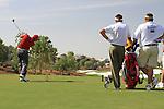 Sergio Garcia tees off on the par3 4th hole during  Day 3 at the Dubai World Championship Golf in Jumeirah, Earth Course, Golf Estates, Dubai  UAE, 21st November 2009 (Photo by Eoin Clarke/GOLFFILE)