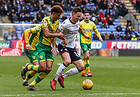 Bolton Wanderers' Pawel Olkowski breaks under pressure from Norwich City's Jamal Lewis  <br /> <br /> Photographer Andrew Kearns/CameraSport<br /> <br /> The EFL Sky Bet Championship - Bolton Wanderers v Norwich City - Saturday 16th February 2019 - University of Bolton Stadium - Bolton<br /> <br /> World Copyright © 2019 CameraSport. All rights reserved. 43 Linden Ave. Countesthorpe. Leicester. England. LE8 5PG - Tel: +44 (0) 116 277 4147 - admin@camerasport.com - www.camerasport.com