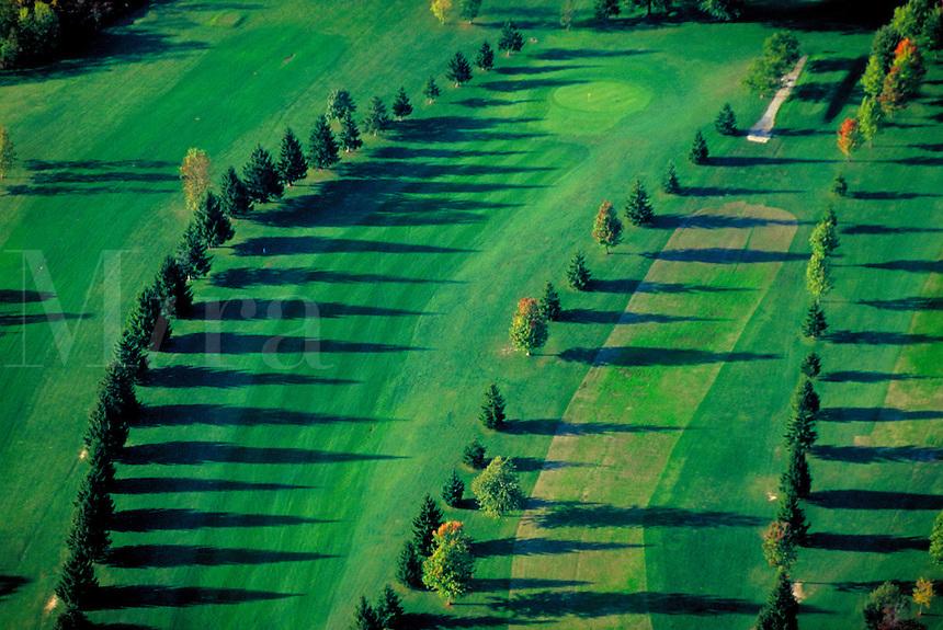 Golf Course Fairways. Seneca Falls New York United States Finger Lakes.