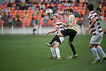 HOUSTON, TX - DECEMBER 11:  Jeremy Jones (19) of Wake Forest University and Bobby Duncan (11) of Stanford University during the Division I Men's Soccer Championship held at the BBVA Compass Stadium on December 11, 2016 in Houston, Texas.  Stanford defeated Wake Forest 1-0 in a penalty shootout for the national title. (Photo by Justin Tafoya/NCAA Photos via Getty Images)