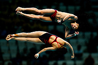 Picture by Rogan Thomson/SWpix.com - 15/07/2017 - Diving - Fina World Championships 2017 -  Duna Arena, Budapest, Hungary - Shen-Yan Lim and Jonathan Chan of Singapore compete in the Mixed 10m Synchro Platform Final