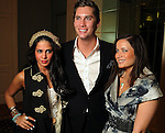 From left: Sarah Aghili, Kalon McMahon and Annina Stefanelli at the final day of the Fashion Houston 2010 presented by Audi at the Wortham Theater Thursday Oct. 14, 2010. (Dave Rossman/For the Chronicle)