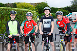 Evan Horgan, Michael Murphy, Nathan Egan, Laim and Ruairi Murphy ast the Castleisland Day CAre centre cycle on Sunday