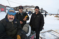 Volunteer checkers at Shageluk take time out for a photo during Iditarod 2009
