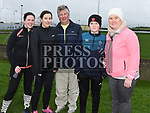 Maria and Derek Devlin, Sinead glennon, Conor and Sharon Dunne who took part in the Operation Transformation walk in Dunleer. Photo:Colin Bell/pressphotos.ie
