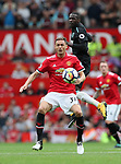 Manchester United's Menaja Matic tussles with West Ham's Pedro Obiang during the premier league match at Old Trafford Stadium, Manchester. Picture date 13th August 2017. Picture credit should read: David Klein/Sportimage