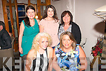 BIRTHDAY GIRLS: In Bella Bia, Tralee last Saturday night Sally Sheridan, Lixnaw (left) and Rita Clifford, Ballyrickard, Tralee celebrated their birthdays with (standing) L-R Mary Coffey, Joanne O'Brien and Mary Whelan.