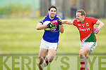 Bryan Sheehan Kerry in action against Andy Moran Mayo in the National Football League in Austin Stack Park on Sunday..