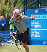 June 11th 2017, Nottingham, England; ATP Aegon Nottingham Open Tennis Tournament day 2;  Sam Groth of Australia sending down another 140mph serve