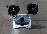 Feb 21, 2015; Chandler, AZ, USA; NHRA competition eliminator driver Art Hodges during qualifying for the Carquest Nationals at Wild Horse Pass Motorsports Park. Mandatory Credit: Mark J. Rebilas-