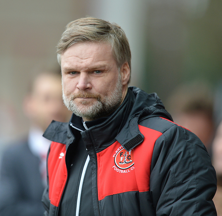 Fleetwood Town's Manager Steven Pressley<br /> <br /> Photographer Dave Howarth/CameraSport<br /> <br /> Football - The Football League Sky Bet League One - Fleetwood Town v Shrewsbury Town - Sunday 7th February 2016 - Highbury Stadium - Fleetwood  <br /> <br /> &copy; CameraSport - 43 Linden Ave. Countesthorpe. Leicester. England. LE8 5PG - Tel: +44 (0) 116 277 4147 - admin@camerasport.com - www.camerasport.com