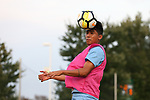 CARY, NC - SEPTEMBER 29: UNC's Raul Aguilera. The University of North Carolina Tar Heels hosted the North Carolina State University Wolfpack on September 29, 2017 at Koka Booth Field at WakeMed Soccer Park in Cary, NC in a Division I college soccer game.