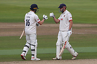 Sam Cook (L) and Nick Browne of Essex during Warwickshire CCC vs Essex CCC, Specsavers County Championship Division 1 Cricket at Edgbaston Stadium on 12th September 2019