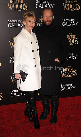 New York,NY-December 8: Trudie Styler, Sting     Attends the 'Into The Woods' world premiere at the Ziegfeld Theater on December 8, 2014. Credit: John Palmer/MediaPunch