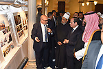 Egyptian President Abdel Fattah al-Sisi and Saudi Crown Prince Mohammed bin Salman visit the historic Azhar mosque complex in the Islamic quarter of the capital Cairo, on March 6, 2018. Photo by Egyptian President Office