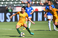 Carson, CA - Thursday August 03, 2017: Lisa De Vanna during a 2017 Tournament of Nations match between the women's national teams of Australia (AUS) and Brazil (BRA) at the StubHub Center.