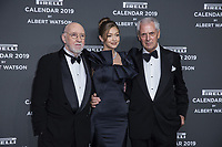 "Marco Tronchetti Provera (Pirelli's President), Gigi Hadid, Albert Watson attend the gala night for official presentation of the Presentation of the Pirelli Calendar 2019 ""The cal"" held at the Hangar Bicocca. Milan (Italy) on december 5, 2018. Credit: Action Press/MediaPunch ***FOR USA ONLY***"