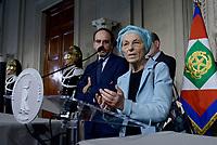 Roma, 4 Aprile 2018<br /> Emma Bonino.<br /> Primo giorno di Consultazioni per la formazione del Governo