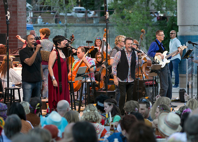 "Jeans 'N Classics perform during the Pops on the River ""A night at Woodstock"" concert at Wingfield Park in downtown Reno on Saturday, July 13, 2019."