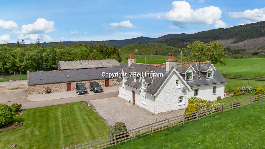 BNPS.co.uk (01202 558833)<br /> Pic: Bell Ingram/BNPS<br /> <br /> A Scottish farmhouse that had to be rebuilt by a 19th century nobleman to appease his English wife has gone on the market for £720,000.<br /> <br /> The idyllic Woodhead Farmhouse in Aberdeenshire belonged to Baronet Sir Arthur Grant but his English wife Evelyn was not a fan of Scottish <br /> architecture.<br /> <br /> She wanted the home to reflect the houses she grew up seeing in the Cotswolds and as such it was completely rebuilt.<br /> <br /> The new structure was built in 1889 and mirrors properties more commonly seen in south west England.