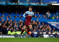 30th November 2019; Stamford Bridge, London, England; English Premier League Football, Chelsea versus West Ham United; Felipe Anderson of West Ham United   - Strictly Editorial Use Only. No use with unauthorized audio, video, data, fixture lists, club/league logos or 'live' services. Online in-match use limited to 120 images, no video emulation. No use in betting, games or single club/league/player publications
