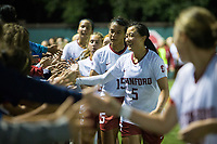 STANFORD, CA - September 7, 2018: Alana Cook, Michelle Xiao at Laird Q. Cagan Stadium. The Stanford Cardinal defeated Notre Dame 3-1.