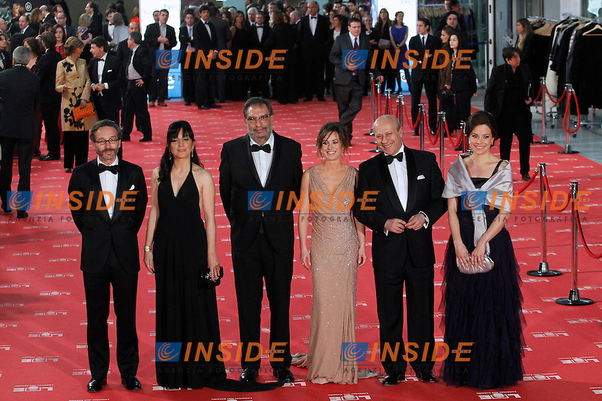 poses at Goya Cinema Awards 2012 ceremony, at the Palacio Municipal de Congresos on February 19, 2012 in Madrid..Photo: Insidefoto / Cesar Cebolla / ALFAQUI .ITALY ONLY