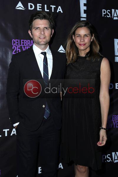 Adam Scott, Naomi Scott<br /> at PS Arts - The Party, NeueHouse, Hollywood, CA 05-20-16<br /> David Edwards/DailyCeleb.Com 818-249-4998