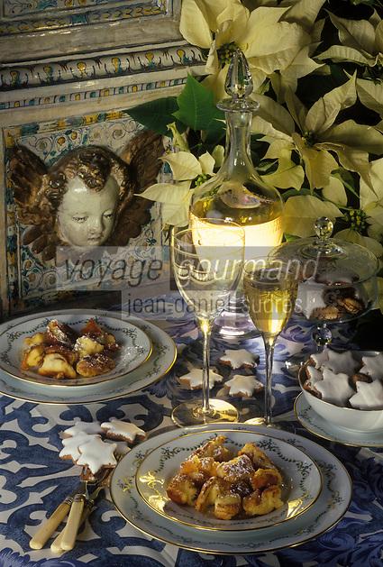 """Europe/Autriche/Salzbourg : Repas de Noël - Petits gâteaux en rubans au restaurant """"Gasthof Hohlwegwirt"""""""