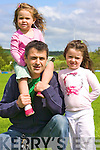 Richard Murphy with daughters Hazel & Ella Pictured at the Knocknagoshel Festival on Saturday.