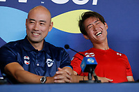 2nd January 2020; RAC Arena , Perth, Western Australia, Australia; ATP Cup Team Press conferences, Japan; Satoshi Iwabuchi and Yoshihito Nishioka of Japan at the teams press conference - Editorial Use