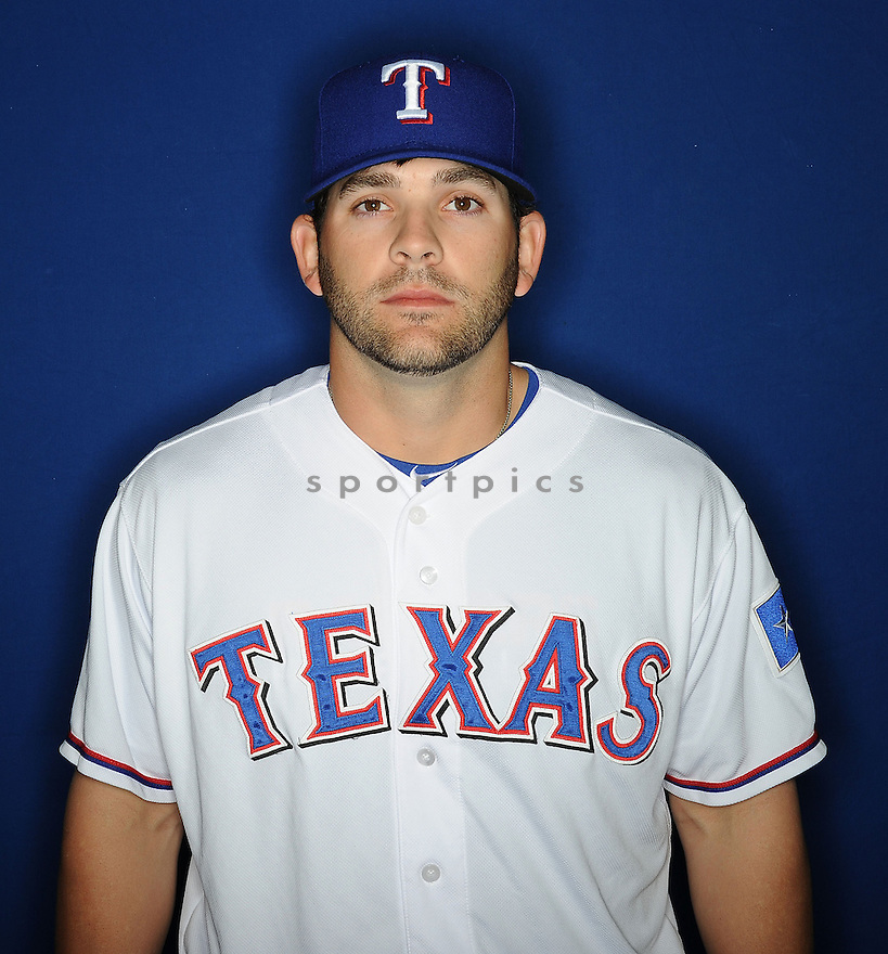 Texas Rangers Mitch Moreland (18) at media photo day during spring training on February 20, 2013 in Surprise, AZ