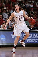 24 March 2008: Jeanette Pohlen during Stanford's 88-54 win over UTEP in the second round of the NCAA women's basketball championships in Stanford, CA.