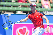 11th January 2018,  Kooyong Lawn Tennis Club, Kooyong, Melbourne, Australia; Priceline Pharmacy Kooyong Classic tennis tournament; Matt Ebden of Australia extends to return to Richard Gasquet of France