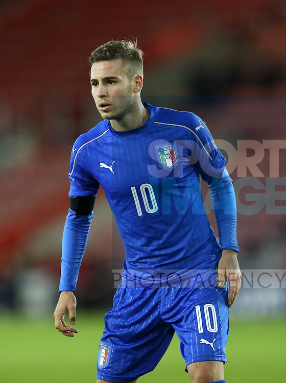 Italy's Federico Ricci in action during the Under 21 International Friendly match at the St Mary's Stadium, Southampton. Picture date November 10th, 2016 Pic David Klein/Sportimage