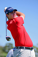 Beau Hossler (USA) watches his tee shot on 3 during round 1 of the Shell Houston Open, Golf Club of Houston, Houston, Texas, USA. 3/30/2017.<br /> Picture: Golffile | Ken Murray<br /> <br /> <br /> All photo usage must carry mandatory copyright credit (&copy; Golffile | Ken Murray)
