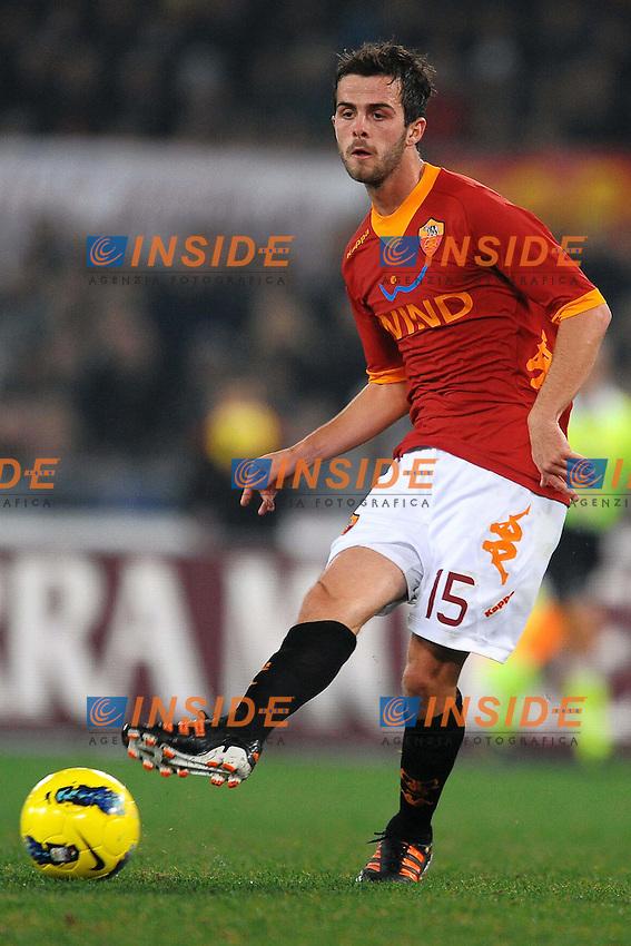 "Miralem Pjanic Roma.Roma 12/12/2011 Stadio ""Olimpico"".Football Calcio 2011/2012 Serie A.Roma Vs Juventus 1-1.Foto Insidefoto Andrea Staccioli"
