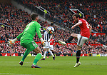 Ben Foster of West Bromwich Albion saves a shot from Juan Mata of Manchester United during the premier league match at the Old Trafford Stadium, Manchester. Picture date 15th April 2018. Picture credit should read: Simon Bellis/Sportimage