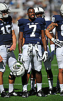 27 September 2014:  Penn State WR Eugene Geno Lewis (7). The Northwestern Wildcats defeated the The Penn State Nittany Lions 29-6 at Beaver Stadium in State College, PA.