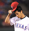 Yu Darvish (Rangers),<br /> APRIL 28, 2014 - MLB :<br /> Pitcher Yu Darvish of the Texas Rangers during the Major League Baseball game against the Oakland Athletics at Globe Life Park in Arlington in Arlington, Texas, United States. (Photo by AFLO)