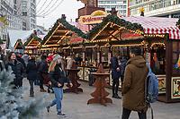 Eroeffnung des Berliner Weihnachtsmarkt am Breitscheidplatz am Montag den 27. November 2017.<br /> Nach dem LKW-Anschlag am 19. Dezember 2016 findet der Weihnachtsmarkt unter verschaerften Sicherheitsvorkehrungen statt. So wurden Beton-Barrieren um den Weihnachtsmarkt aufgestellt und mehr Polizeistreifen sind zum Schutz der Besucher unterwegs.<br /> Im Bild: Staende an der Stelle des LKW-Anschlag.<br /> 27.11.2017, Berlin<br /> Copyright: Christian-Ditsch.de<br /> [Inhaltsveraendernde Manipulation des Fotos nur nach ausdruecklicher Genehmigung des Fotografen. Vereinbarungen ueber Abtretung von Persoenlichkeitsrechten/Model Release der abgebildeten Person/Personen liegen nicht vor. NO MODEL RELEASE! Nur fuer Redaktionelle Zwecke. Don't publish without copyright Christian-Ditsch.de, Veroeffentlichung nur mit Fotografennennung, sowie gegen Honorar, MwSt. und Beleg. Konto: I N G - D i B a, IBAN DE58500105175400192269, BIC INGDDEFFXXX, Kontakt: post@christian-ditsch.de<br /> Bei der Bearbeitung der Dateiinformationen darf die Urheberkennzeichnung in den EXIF- und  IPTC-Daten nicht entfernt werden, diese sind in digitalen Medien nach §95c UrhG rechtlich geschuetzt. Der Urhebervermerk wird gemaess §13 UrhG verlangt.]