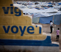 A tent encampment in Petionville, a normally well-to-do area of Port-au-Prince. The 7.0 earthquake that devastated parts of Haiti on January 12 killed hundreds of thousands of people. January's earthquake killed hundreds of thousands of people and caused significant and lasting structural and economic damage in the Caribbean nation.
