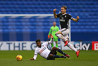 Bolton Wanderers' Mark Little attempted tackle for the ball on Fulham's TomaS Kalas  <br /> <br /> Photographer Leila Coker/CameraSport<br /> <br /> The EFL Sky Bet Championship - Bolton Wanderers v Fulham - Saturday 10th February 2018 - Macron Stadium - Bolton<br /> <br /> World Copyright &copy; 2018 CameraSport. All rights reserved. 43 Linden Ave. Countesthorpe. Leicester. England. LE8 5PG - Tel: +44 (0) 116 277 4147 - admin@camerasport.com - www.camerasport.com