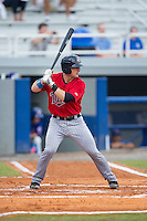 A.J. Murray (22) of the Elizabethton Twins at bat against the Kingsport Mets at Hunter Wright Stadium on July 8, 2015 in Kingsport, Tennessee.  The Mets defeated the Twins 8-2. (Brian Westerholt/Four Seam Images)