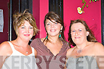Margaret Clifford, Eilish O'Brien and Breda O'Sullivan Killorglin having fun at the Astella's Raft race Bar-B-Q in Kingston's bar Killorglin on Friday night