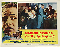On the Waterfront (1954) <br /> Lobby card with Marlon Brando &amp; Lee J. Cobb<br /> *Filmstill - Editorial Use Only*<br /> CAP/MFS<br /> Image supplied by Capital Pictures