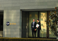 Businessmen in Vaduz outside VP Bank, one of the city's many banks. Liechtenstein has become a major tax haven, whose opaque banking laws are said to aid fraud, money laundering and tax evasion. There are an estimated 75,000 companies registered in the country, twice that of the population. .