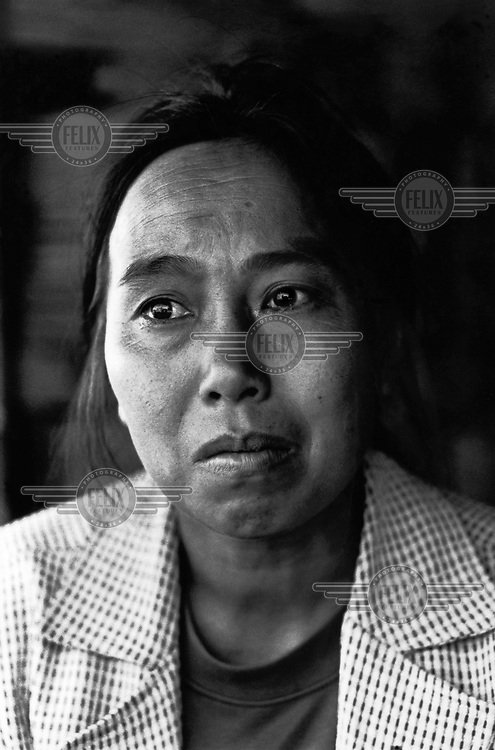 Nang Khi, mother of Nang Sap, at her home in Shan State. Five year old Nang Sap, was kidnapped by the Burma Army and allegedly walled up alive in a Stupa in Ho Mong, Shan State.