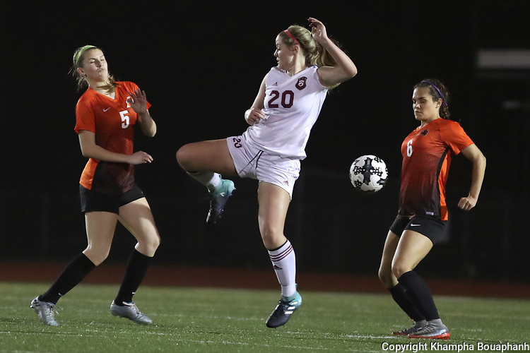 Saginaw loses to Aledo 4-0 in 6-5A girls' soccer at Rough Rider Stadium in Saginaw on Tuesday, February 27, 2018. (photo by Khampha Bouaphanh)